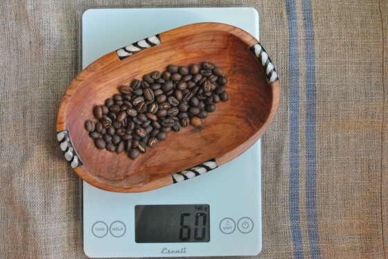 weigh-coffee-beans
